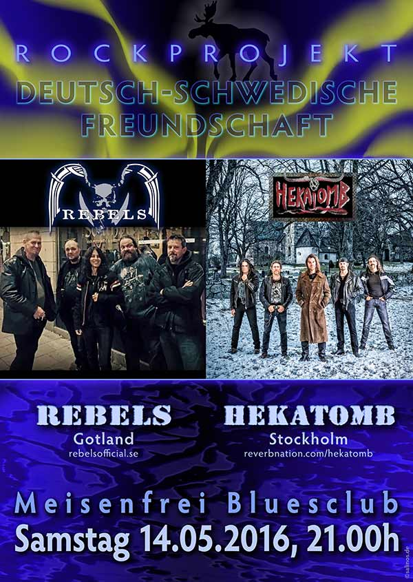 Poster 'Rebels & Hekatomb' at Meisenfrei Blues Club Bremen