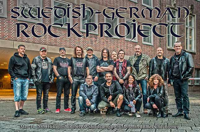 German-Swedish Rockproject 2016 in Meisenfrei Bluesclub Bremen