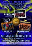 Plakat Live in Meisenfrei and Staxy Bar