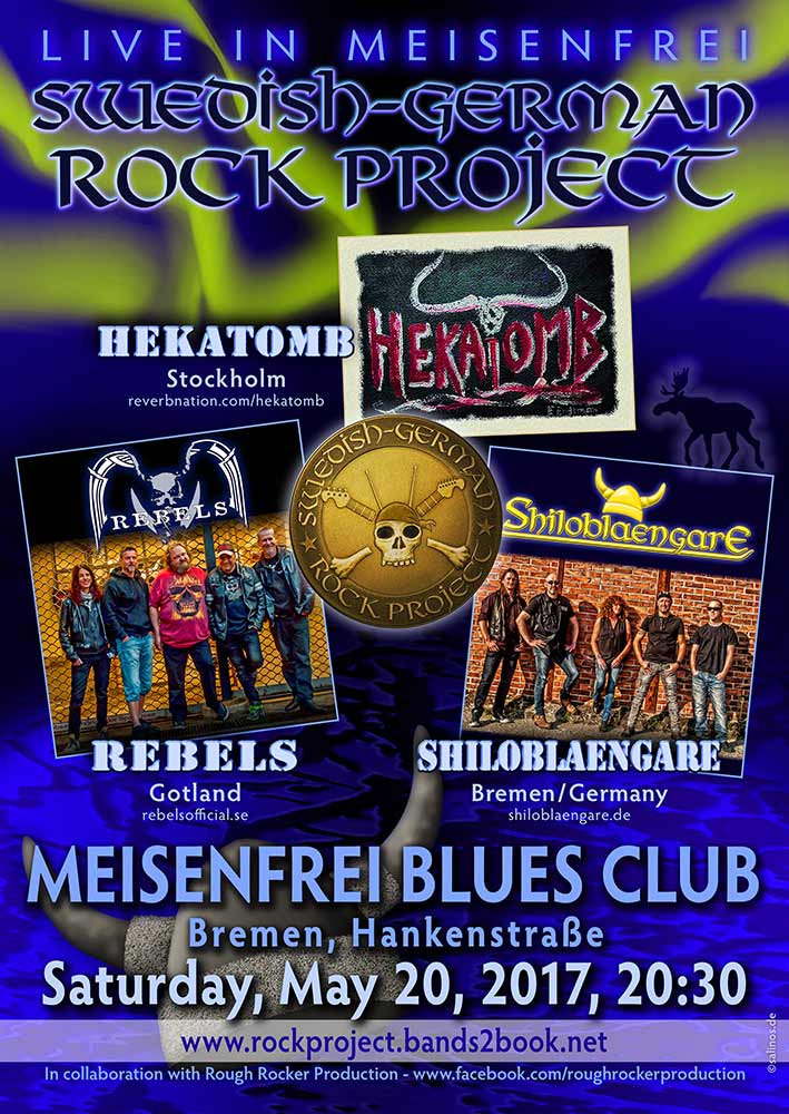 Plakat swedish-German-Rockproject Meisenfrei Bluesclub 2017